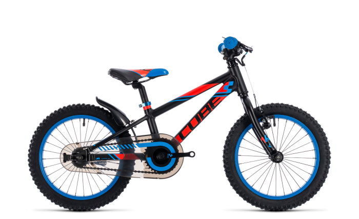 Cube Kid 160 black´n´flashred´n´blue 16 2018