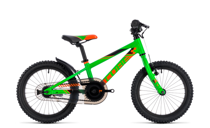 Cube Kid 160 flashgreen´n´orange 16 2018