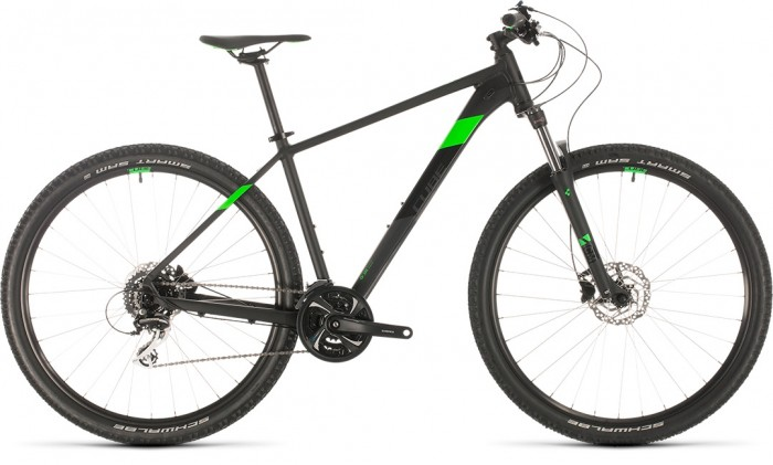CUBE AIM RACE BLACK´N´FLASHGREEN 2020