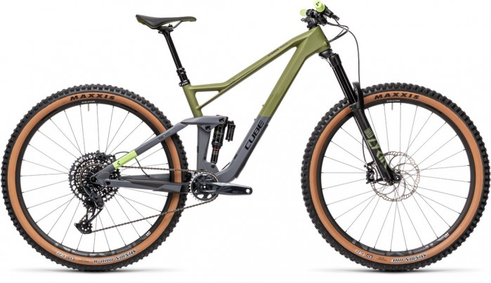 CUBE STEREO 150 C:62 RACE 29 OLIVE´N´GREY 2021